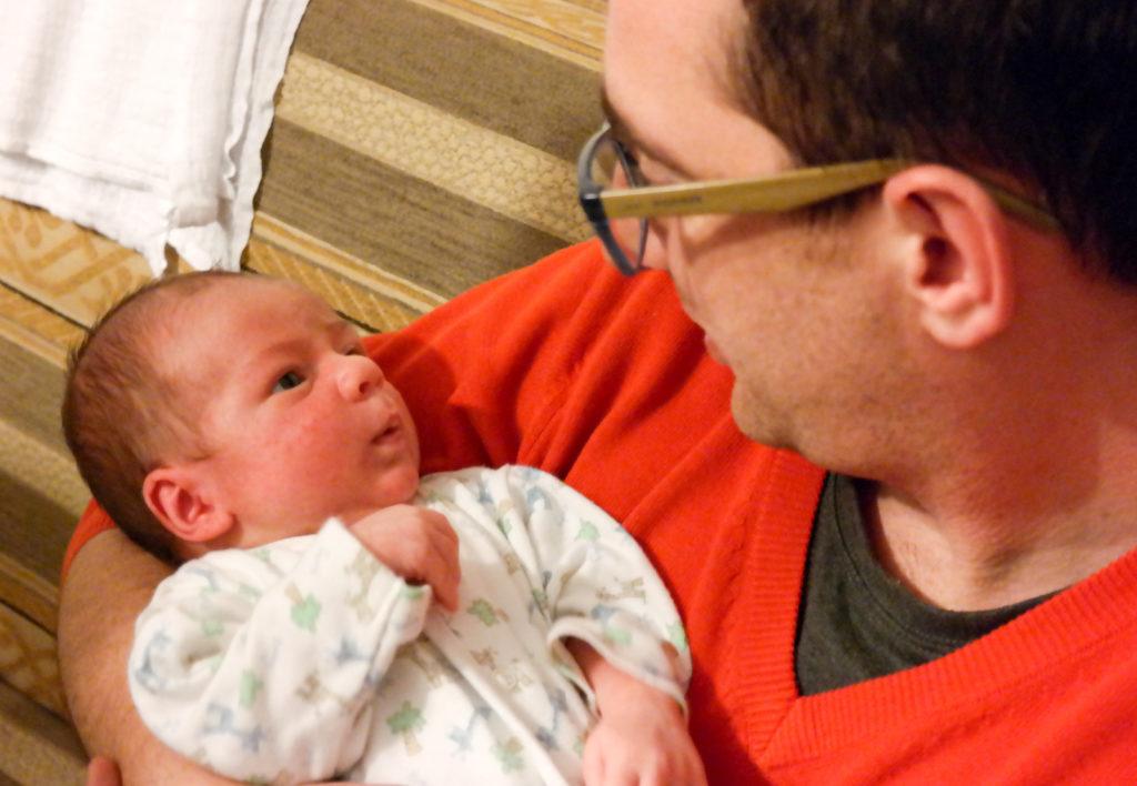 Fiksacja wzroku na twarzy osoby dorosłej tydzień