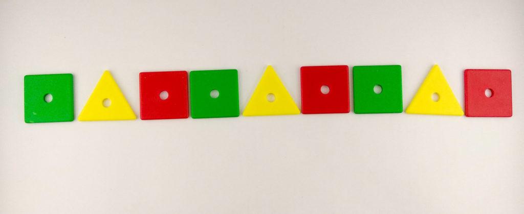 wzory kolory memor kontynuowanie sekwencji
