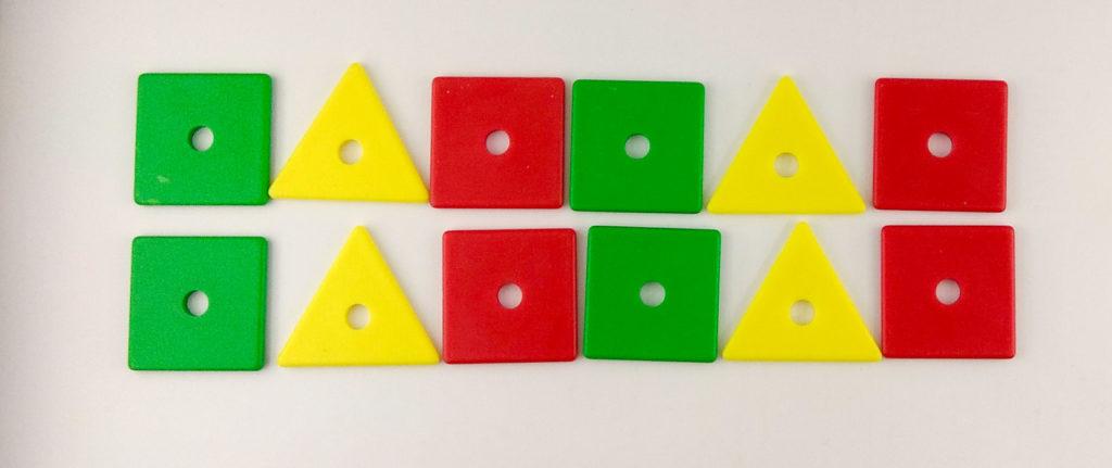 wzory kolory memory nasladowanie sekwencji