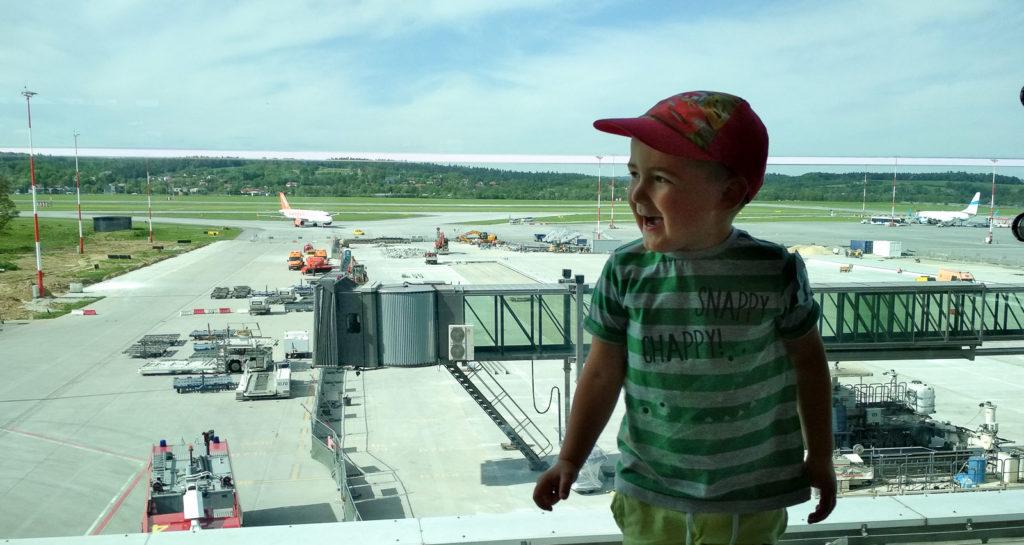 atrakcje dla dzieci krakow lotnisko taras widokowy