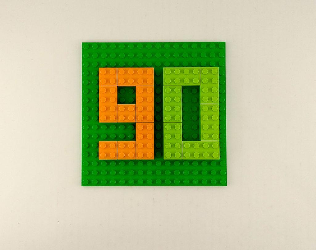 kreatywna zabawa klockami cyfry liczby lego