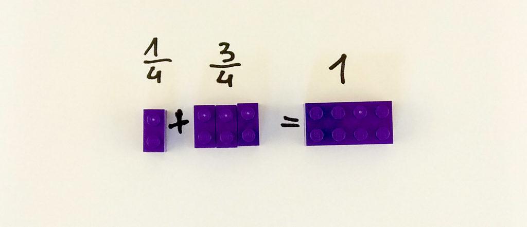 kreatywna zabawa klockami lego ulamki