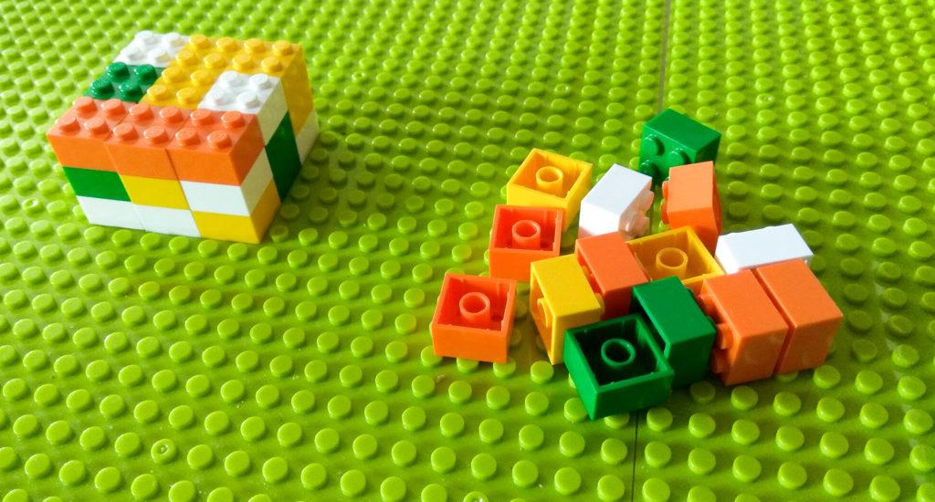 kreatywna zabawa klockami nasladowanie wzoru przestrzennego lego