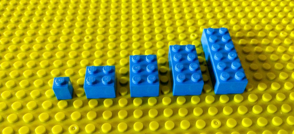 kreatywna zabawa klockami szeregi lego