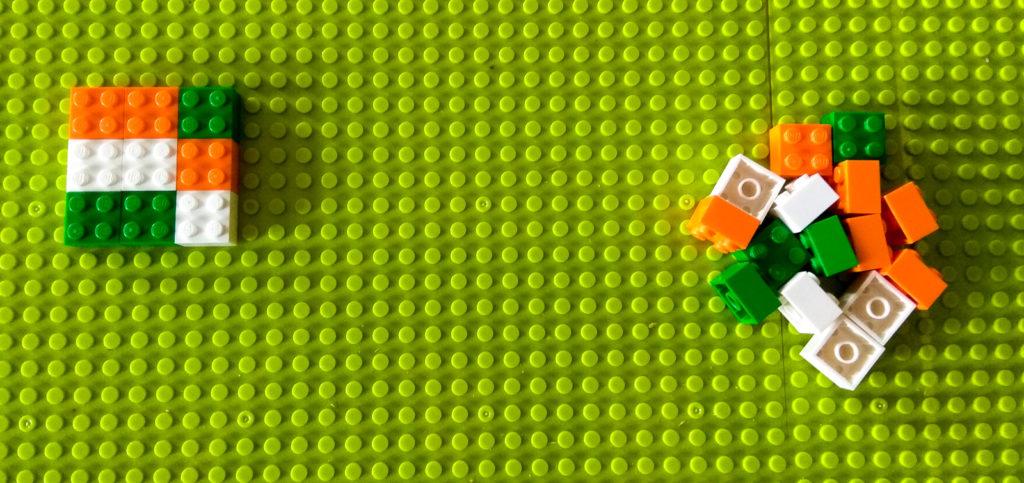 kreatywna zabawa klockami ukladanki lewopolkulowe lego