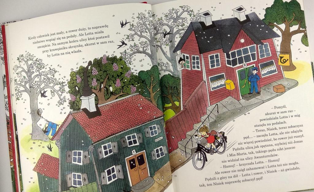 literatura szwedzka dla dzieci astrid lindgren ilon wikland pewnie ze lotta umie jezdzic na rowerze zakamarki