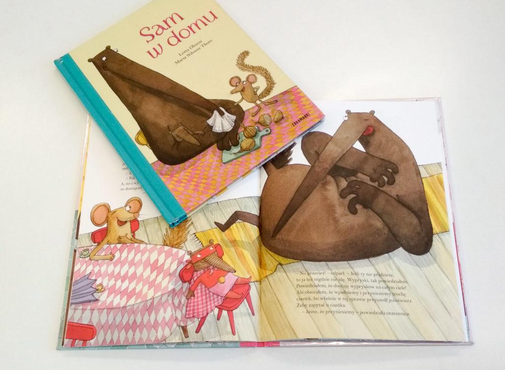 literatura szwedzka dla dzieci lotta olsson charlotte ramel sam w domu maskarada zakamarki