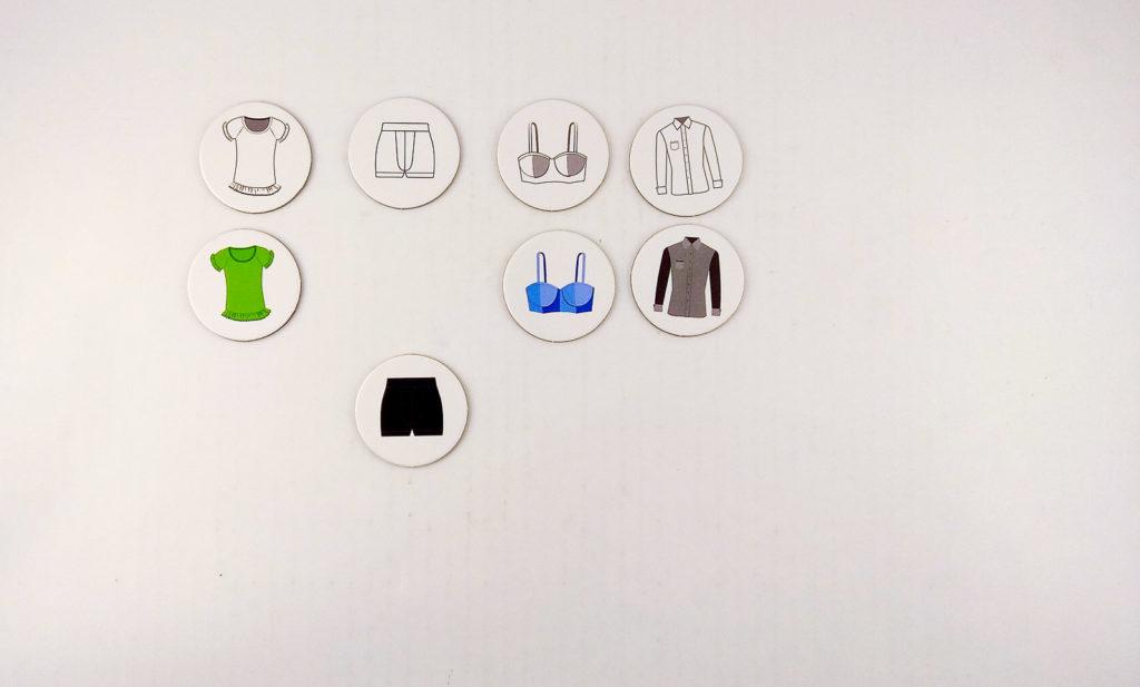 tulula nazwij i wrzuc ubrania analiza wzrokowa dopasowanie