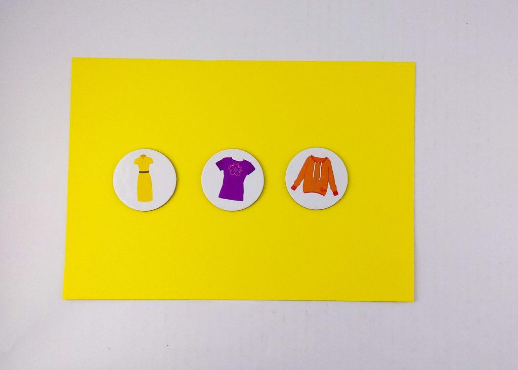 tulula nazwij i wrzuc ubrania pamiec wzrokowa