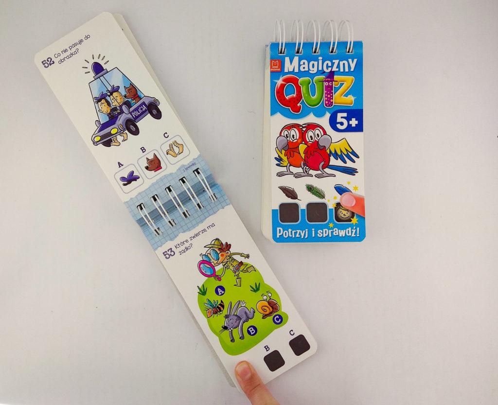 zabawy z dzieckiem w podrozy magiczny quiz potrzyj i sprawdz