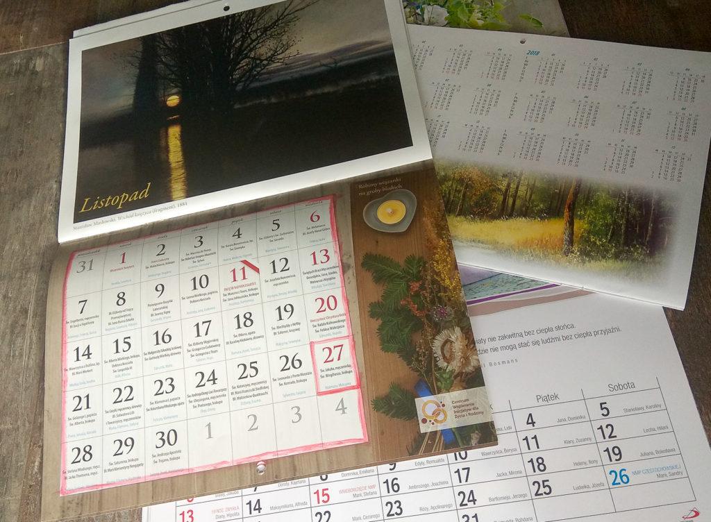 nauka kalendarza dla dzieci