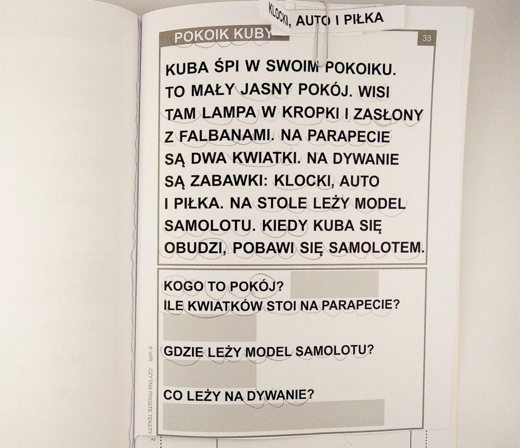 czytam proste teksty programowanie jezyka