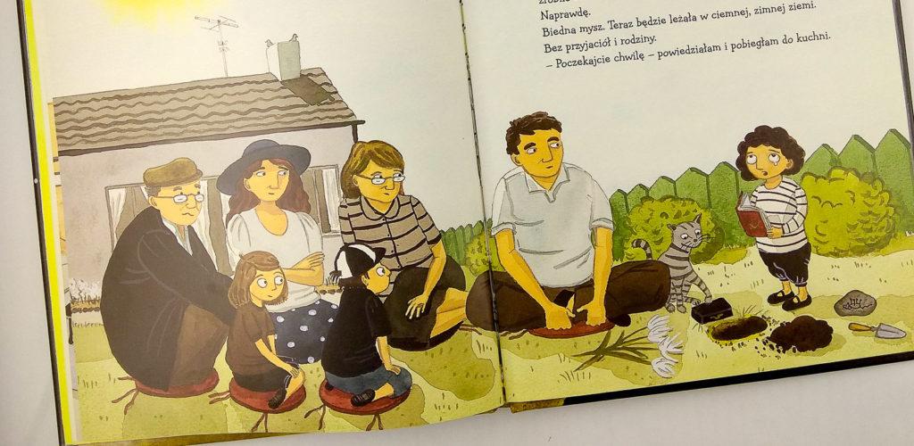 czarne zycie amanda eriksson dziadek w ksiazce dla dzieci