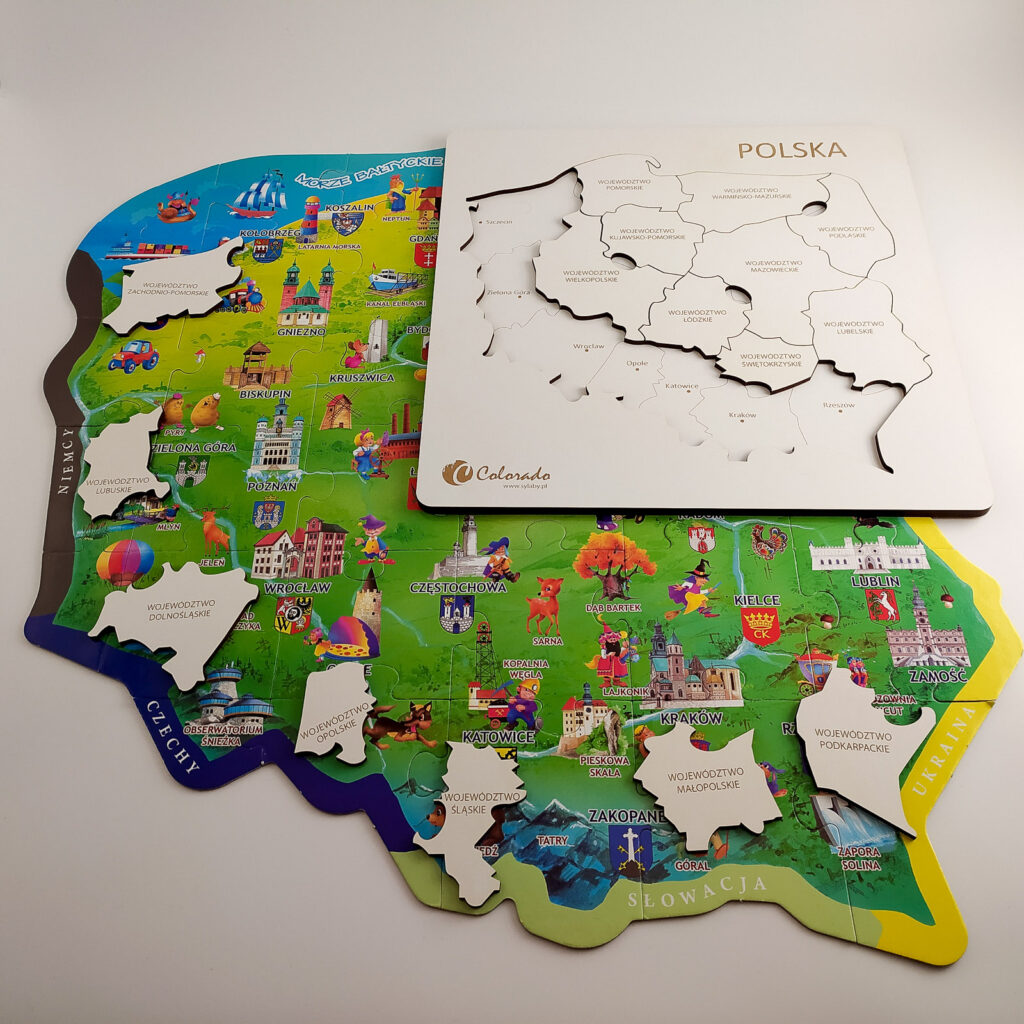 mapa polski ukladanka