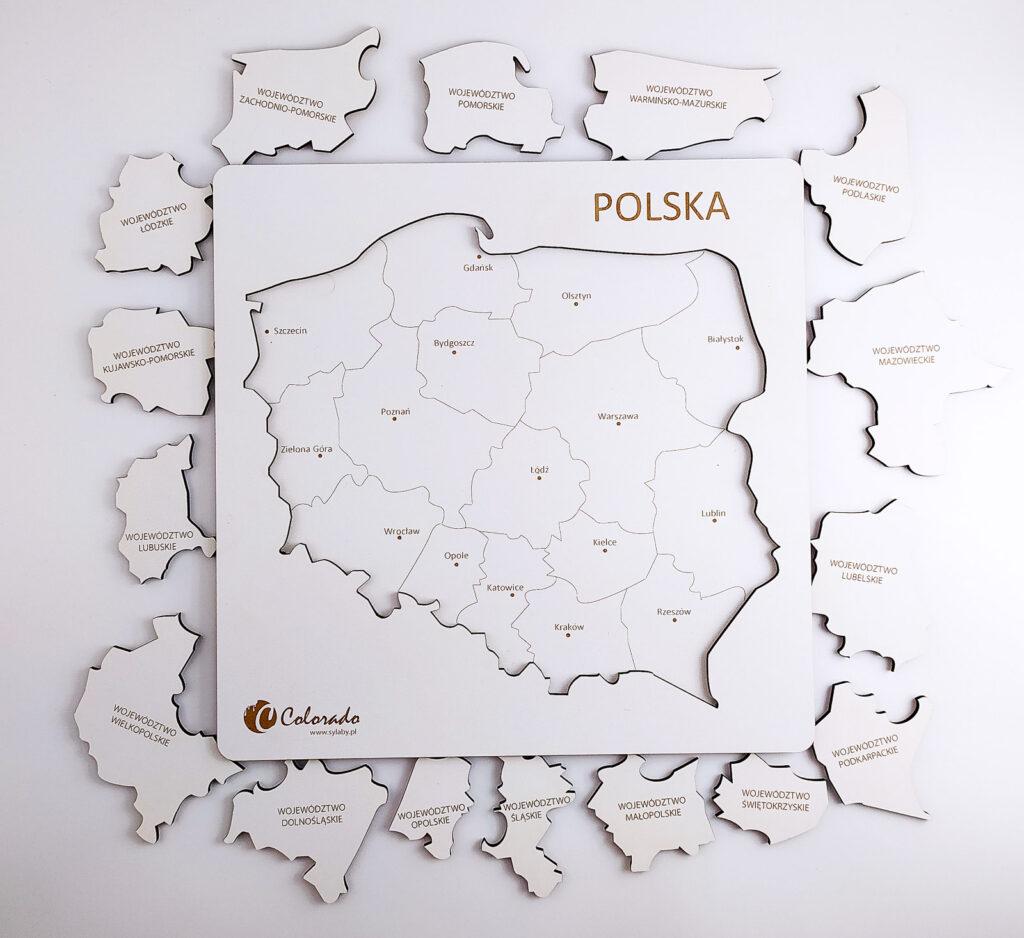 mapa polski ukladanka 36