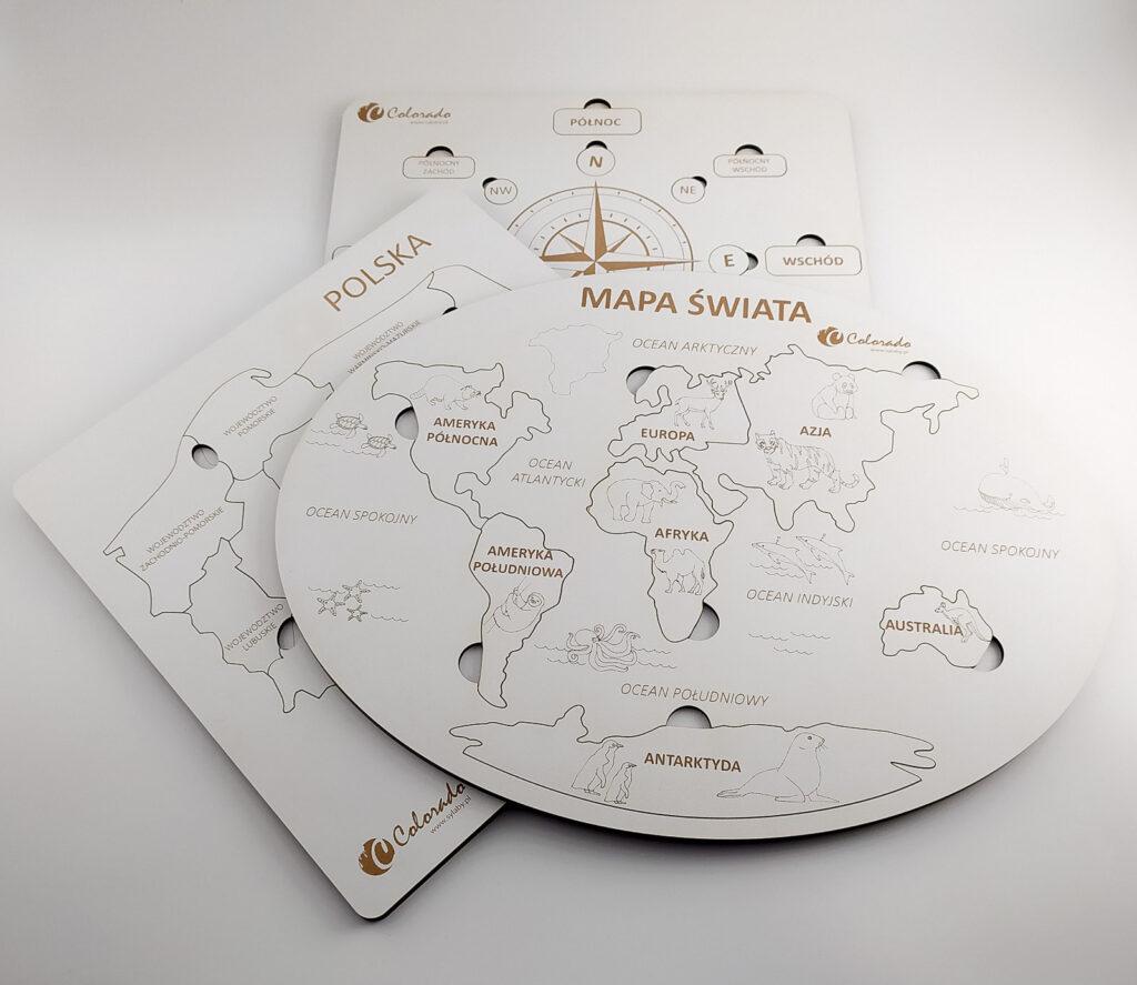mapa swiata ukladanka 25