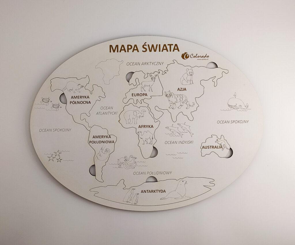 mapa swiata ukladanka 5