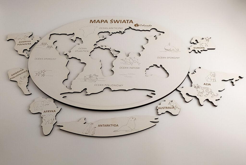 mapa swiata ukladanka 6