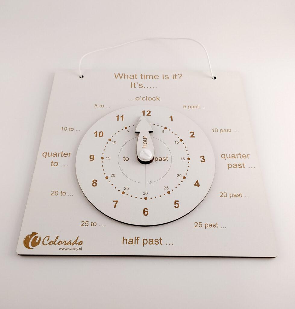 zegar do nauki czas dla dzieci 2
