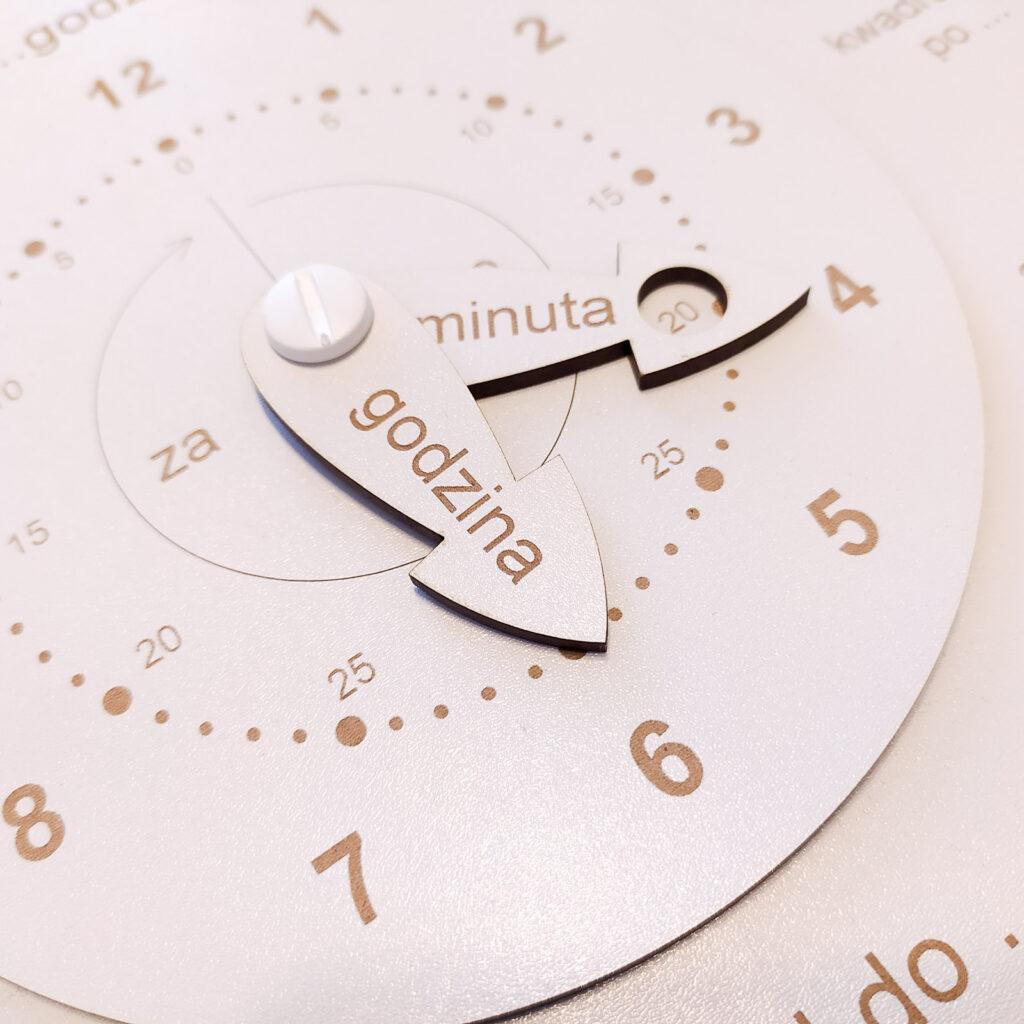 zegar do nauki czas dla dzieci 6