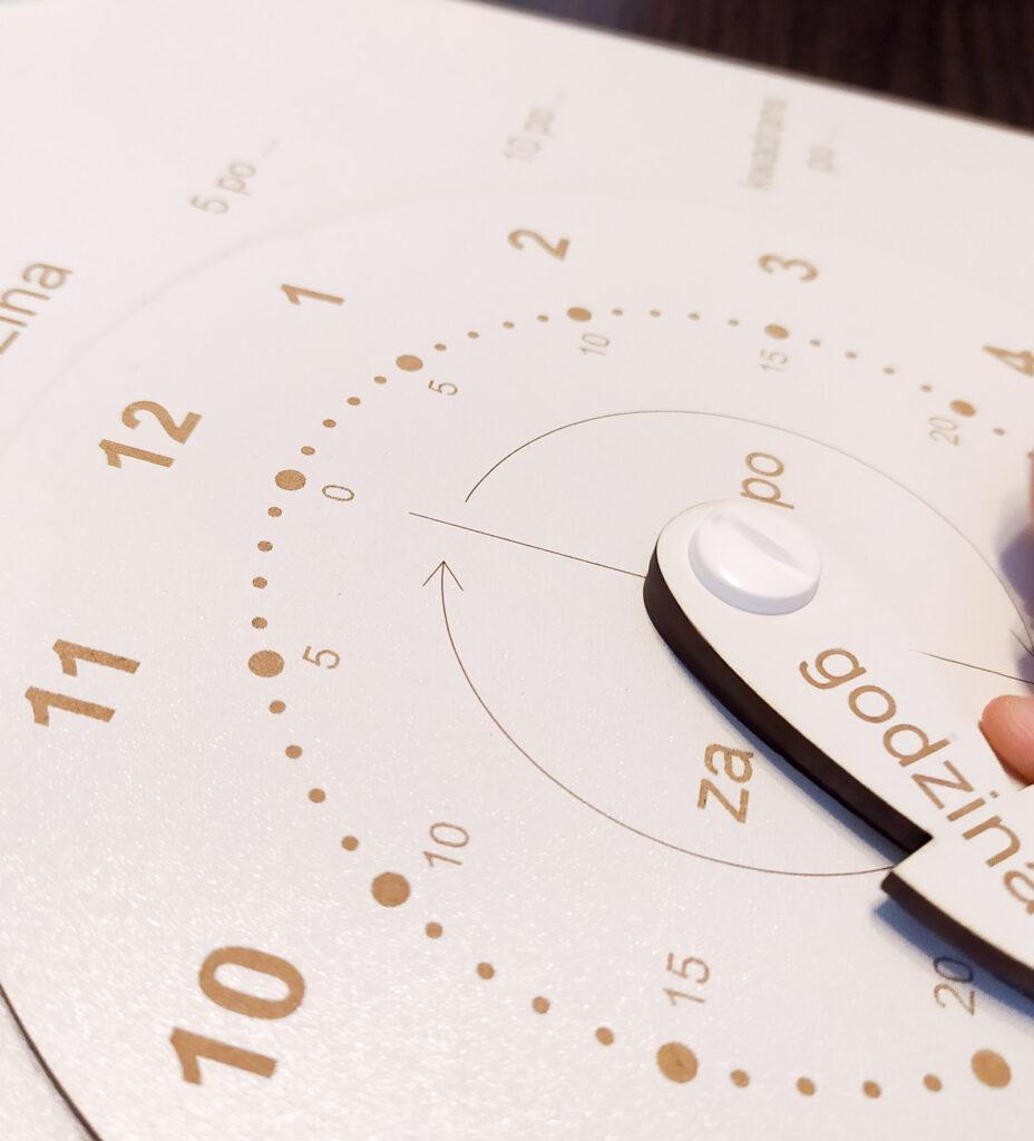 zegar do nauki czas dla dzieci 7