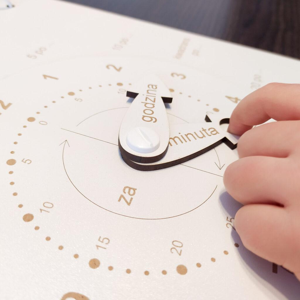 zegar do nauki czas dla dzieci 8