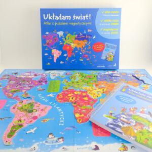 """""""Układam świat!"""" – Atlas z puzzlami magnetycznymi"""