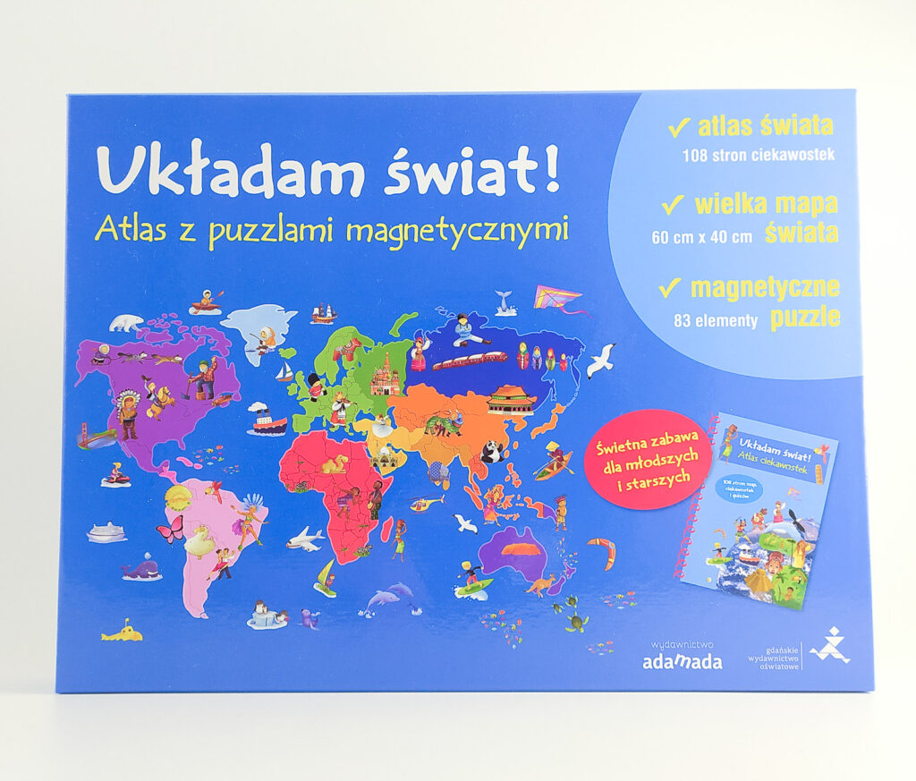 ukladam swiat atlas z puzzlami magnetycznymi 11