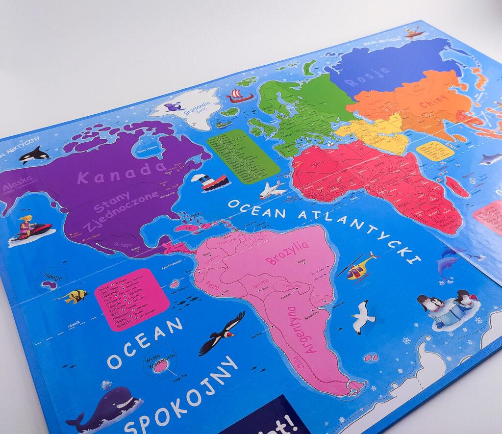 ukladam swiat atlas z puzzlami magnetycznymi 24
