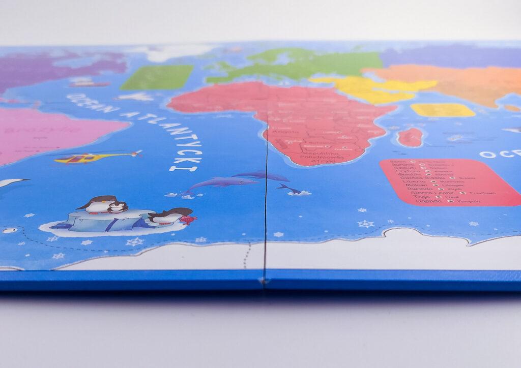 ukladam swiat atlas z puzzlami magnetycznymi 26