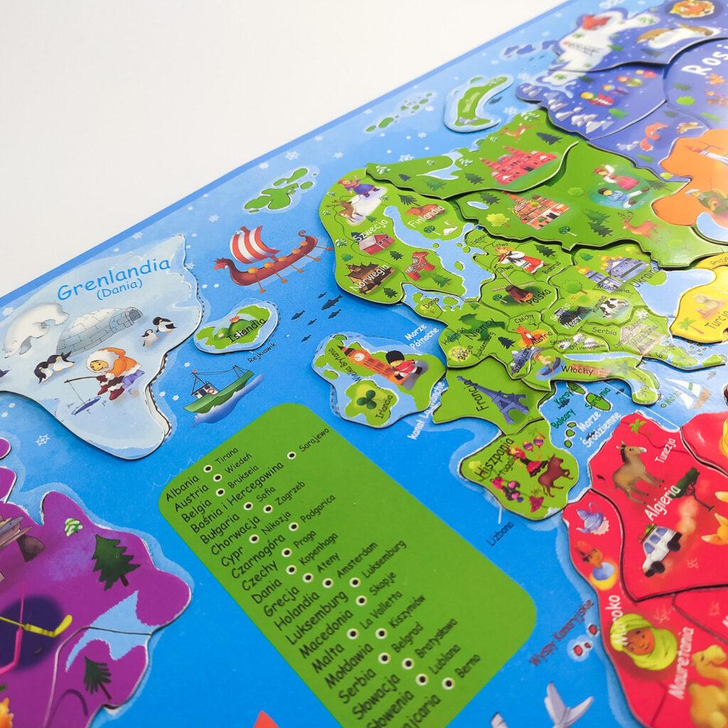 ukladam swiat atlas z puzzlami magnetycznymi 5