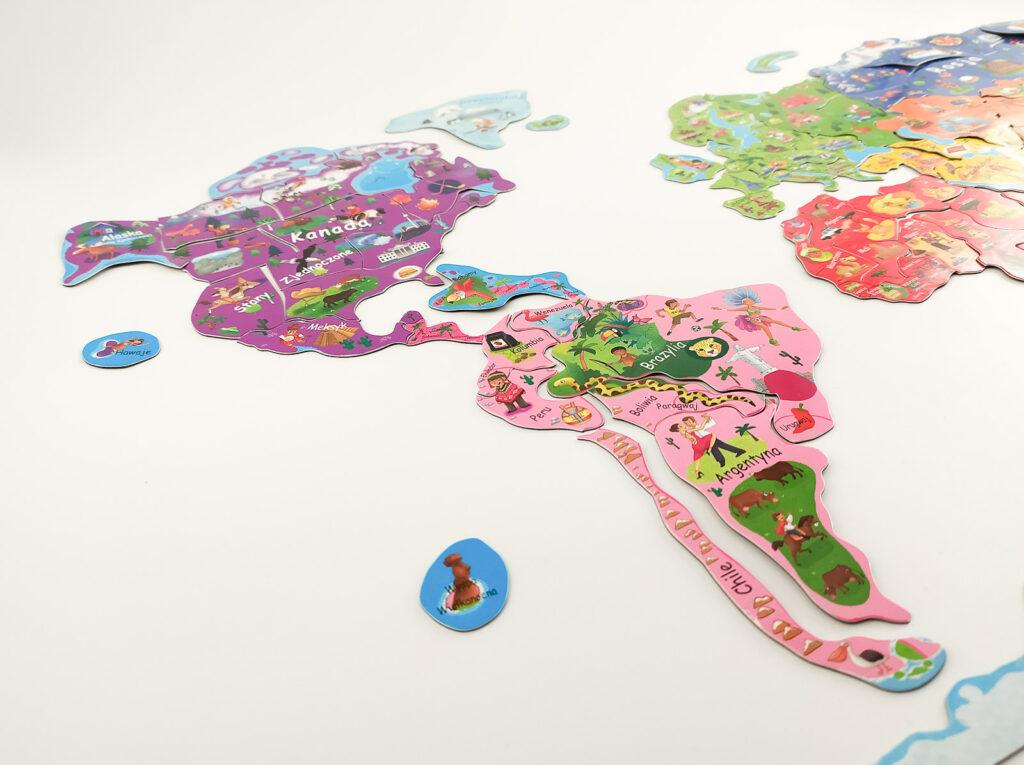 ukladam swiat atlas z puzzlami magnetycznymi 6 1